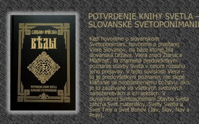 POTVRDENIE KNIHY SVETLA – SLOVANSKÉ SVETOPONÍMANIE